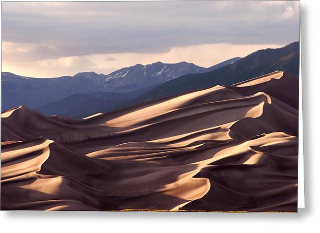 Great Sand Dunes National Park Greeting Cards - Dune Shadows Greeting Card by The Forests Edge Photography - Diane Sandoval