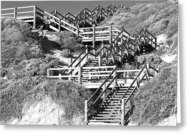 Dune Steps 02 Greeting Card by Rick Piper Photography