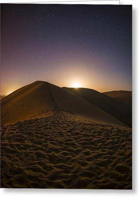 Dunes Greeting Cards - Dunerise Greeting Card by Aaron S Bedell