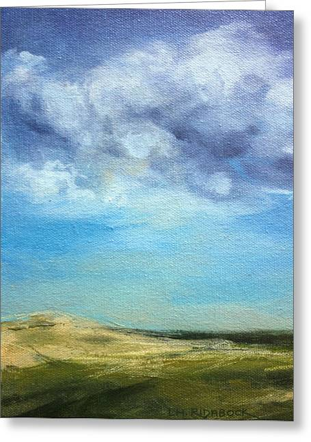 Storm Clouds Cape Cod Greeting Cards - Dunes and Changing Skies  Greeting Card by Lisa  Ridabock