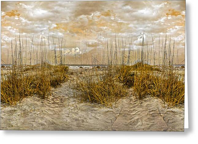 Peaceful Scene Photographs Greeting Cards - Dunes Greeting Card by Betsy C  Knapp