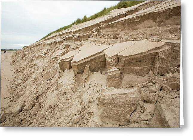 Dunes Collapsing Greeting Card by Ashley Cooper