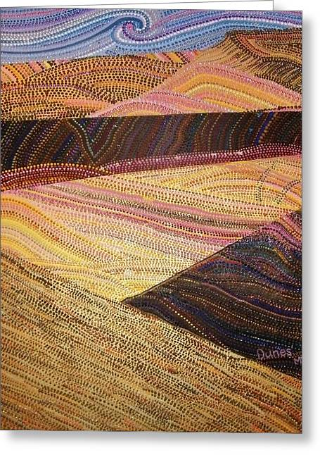Windswept Mixed Media Greeting Cards - Dunes Greeting Card by Maria VanderMolen