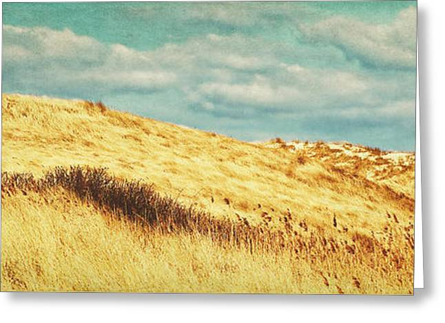 Dunes Mixed Media Greeting Cards - Dunes of Amrum Greeting Card by Angela Doelling AD DESIGN Photo and PhotoArt