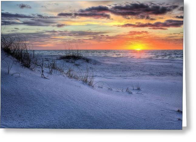 Florida Panhandle Greeting Cards - Dunes of Gulf Islands National Seashore Greeting Card by JC Findley