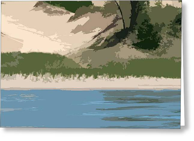 Dunes of Lake Michigan Greeting Card by Michelle Calkins