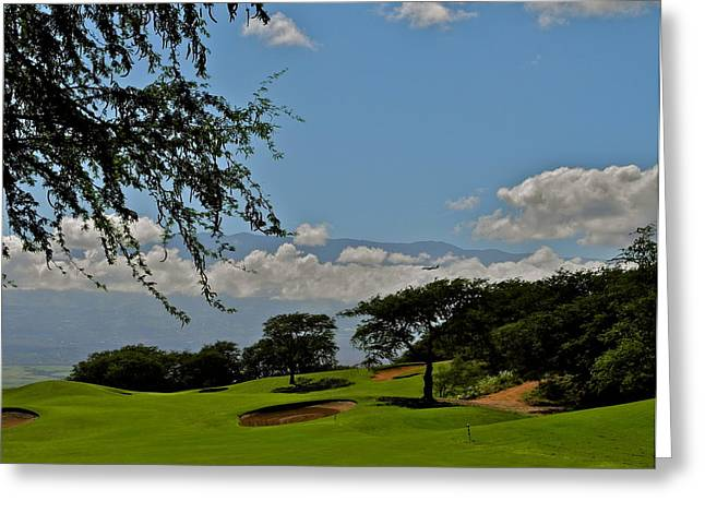 Kirsten Giving Greeting Cards - Dunes of Maui Lani 14th Fairway Greeting Card by Kirsten Giving