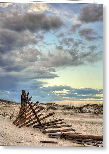 Florida Panhandle Greeting Cards - Dunes of Navarre Beach Greeting Card by JC Findley