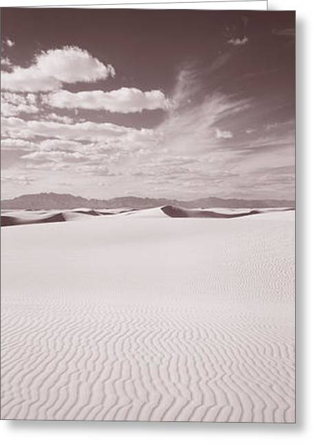 Sand Pattern Greeting Cards - Dunes, White Sands, New Mexico, Usa Greeting Card by Panoramic Images