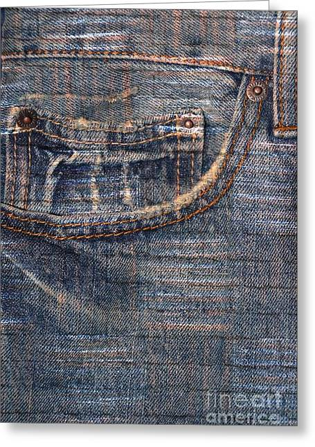 Dungarees Greeting Cards - Dungaree Greeting Card by Darla Wood