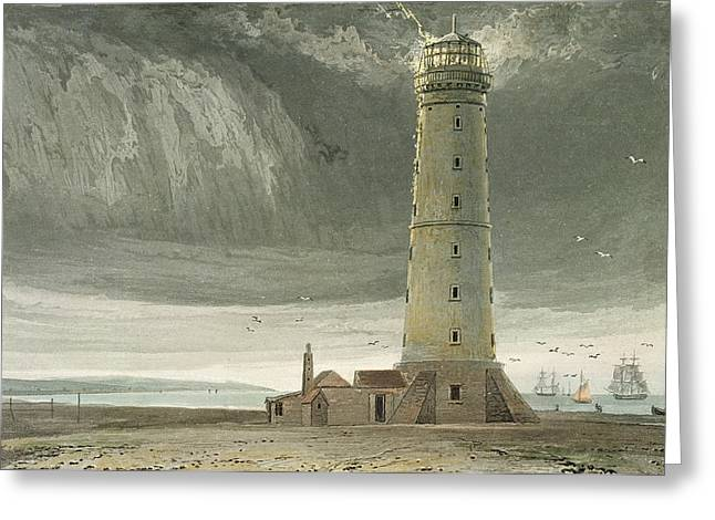 English Drawings Greeting Cards - Dungeness Lighthouse, From A Voyage Greeting Card by William Daniell