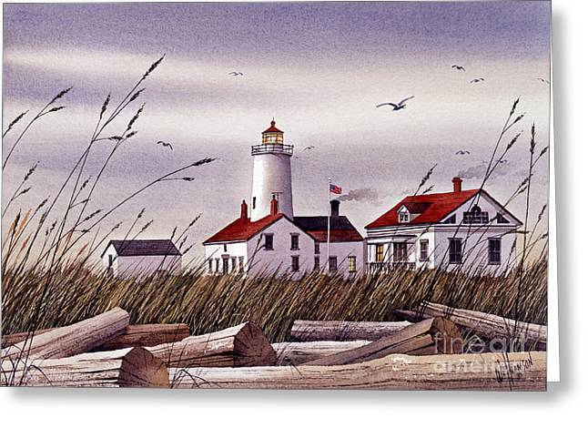 Maritime Print Greeting Cards - Dungeness Lighthouse Greeting Card by James Williamson
