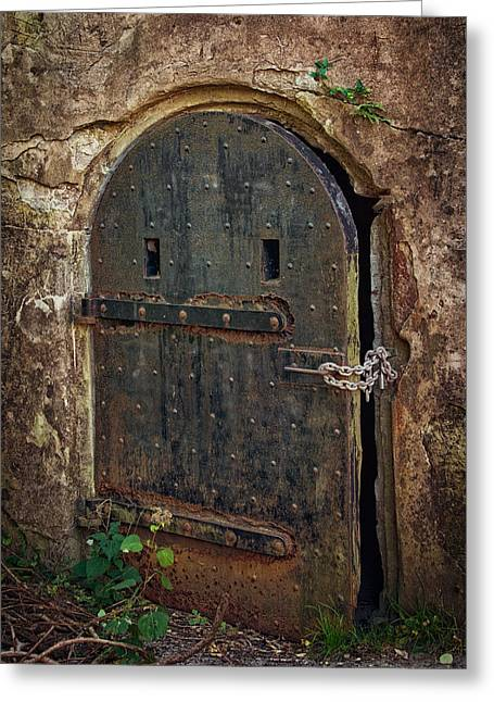 Dungeons Photographs Greeting Cards - Dungeon Door Greeting Card by Joan Carroll