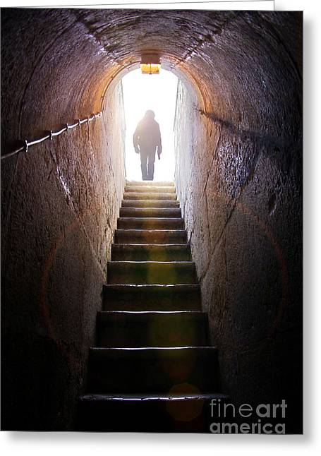 High Stepping Greeting Cards - Dungeon Exit Greeting Card by Carlos Caetano