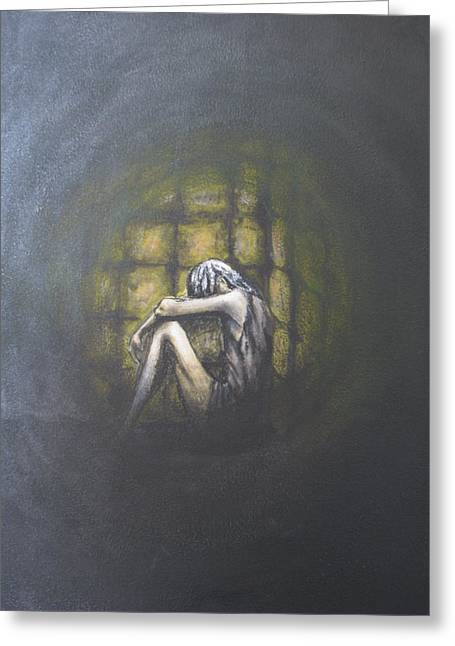 Dungeons Paintings Greeting Cards - Dungeon Greeting Card by Patricia Kanzler