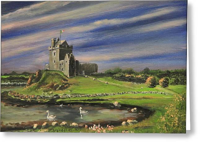 Kinkade Greeting Cards - Dunguaire Castle Ireland Greeting Card by Cecilia  Brendel