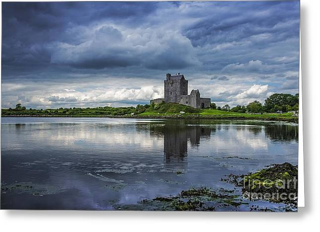 Tide Up Greeting Cards - Dunguaire Castle Greeting Card by Svetlana Sewell
