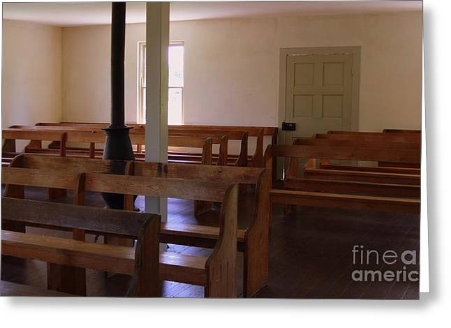 Battlefield Site Greeting Cards - Dunker Church Interior Greeting Card by Patti Whitten