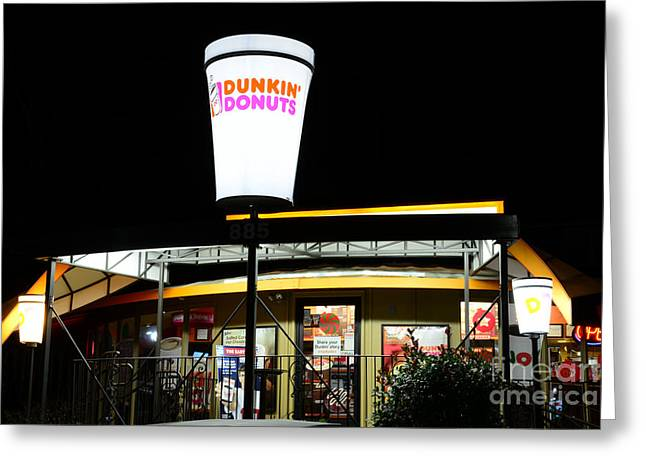 Fast Food Restaurant Greeting Cards - Dunkin Donuts Greeting Card by Paul Ward