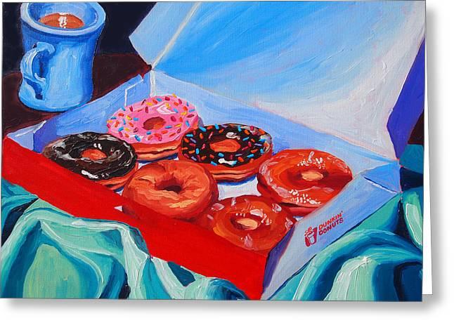 Dunkin Donuts Greeting Card by Sean Boyce