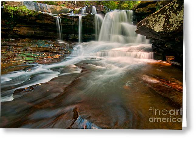 Creek Greeting Cards - Dunloup Falls D300_07714 Greeting Card by Kevin Funk