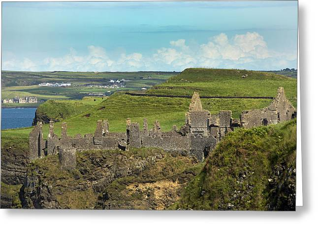 Modern Day Ruins Greeting Cards - Dunluce Afternoon Ireland Greeting Card by Betsy A  Cutler