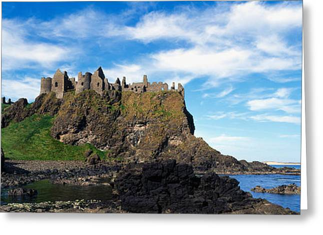 Craggy Greeting Cards - Dunluce Castle, Antrim, Ireland Greeting Card by Panoramic Images
