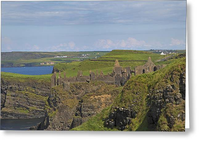 Modern Day Ruins Greeting Cards - Dunluce Castle Ireland Greeting Card by Betsy A  Cutler