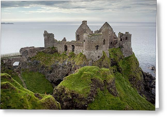 Ocean Landscape Greeting Cards - Dunluce Castle Northern Ireland Greeting Card by Georgi Djadjarov