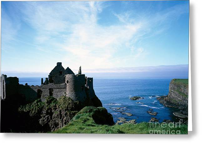 Historic Site Greeting Cards - Dunluce Castle Ruins, Northern Ireland Greeting Card by Rafael Macia