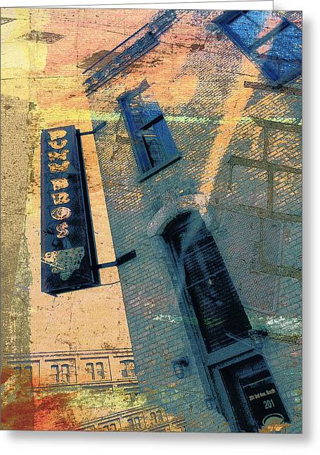 Dunn Greeting Cards - Dunn Brothers Coffee House Greeting Card by Susan Stone