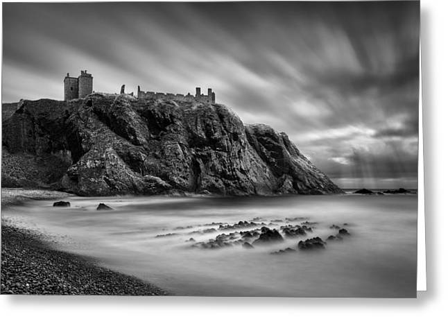 Headlands Greeting Cards - Dunnottar Castle 2 Greeting Card by Dave Bowman