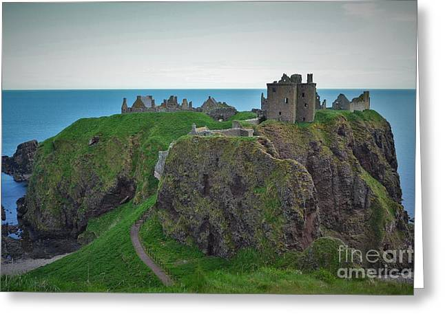 Hostoric Greeting Cards - Dunnottar Castle Greeting Card by Miryam  UrZa