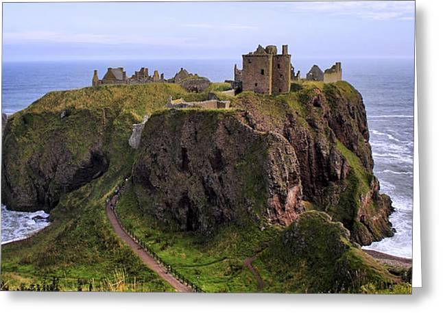 Jmpolitte Greeting Cards - Dunnottar Castle Panorama Greeting Card by Jason Politte