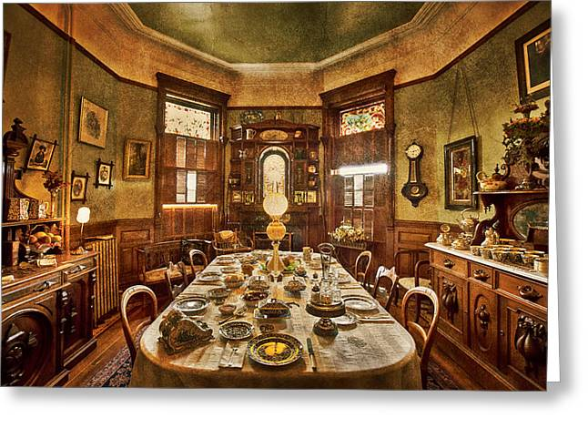Residential Structure Digital Greeting Cards - Dunsmuirs dinning room Greeting Card by Eti Reid