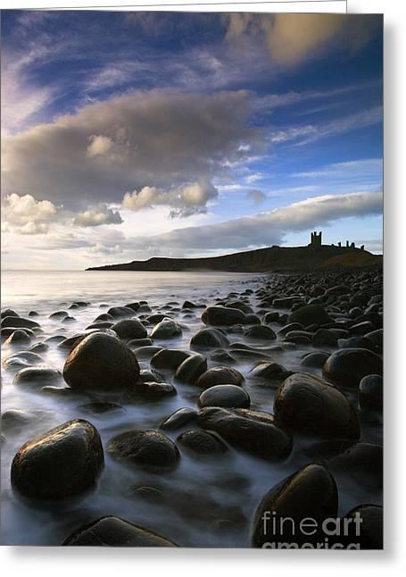 Embleton Greeting Cards - Dunstanburgh Dawn Greeting Card by John Potter