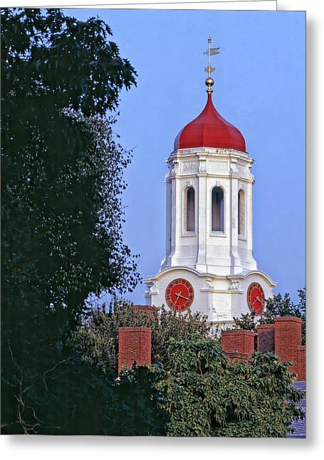 Red School House Greeting Cards - Dunster House on the Campus of Harvard University Greeting Card by Mountain Dreams