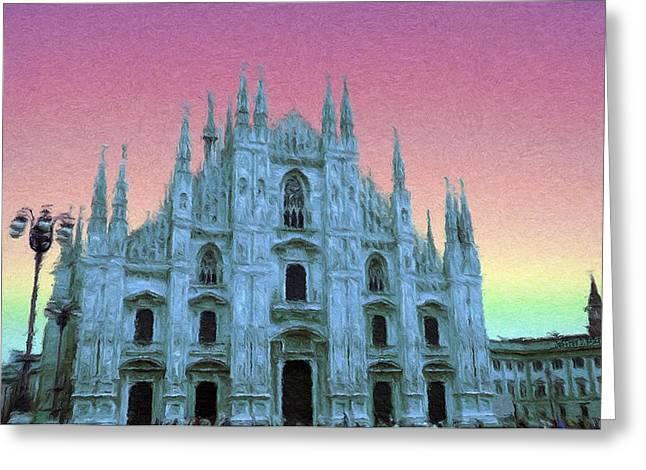 Crosses Greeting Cards - Duomo di Milano Greeting Card by Jeff Kolker