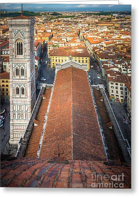Duomo Greeting Cards - Duomo from Above Greeting Card by Inge Johnsson