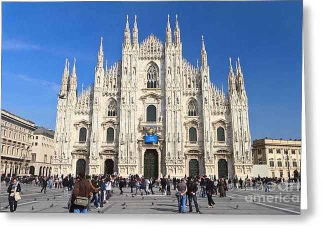 Duomo in Milano. Italy Greeting Card by Antonio Scarpi