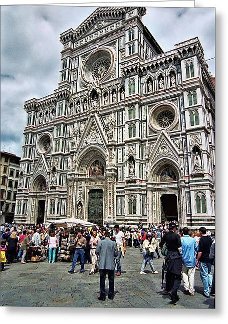Duomo Of Florence Greeting Card by Allen Beatty