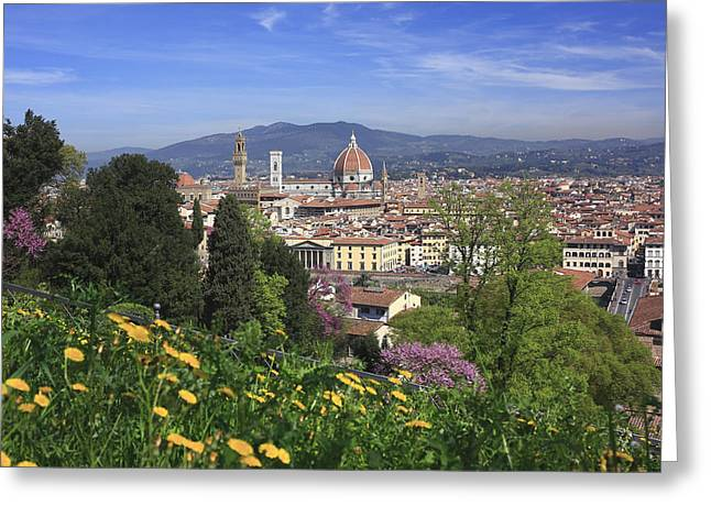 Recently Sold -  - Historical Images Greeting Cards - Duomo View from the Boboli Gardens Florence Italy  Greeting Card by Ivan Pendjakov