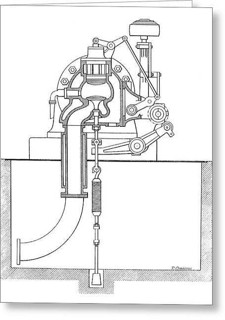 Duplex Engine Distribution Greeting Card by Science Photo Library