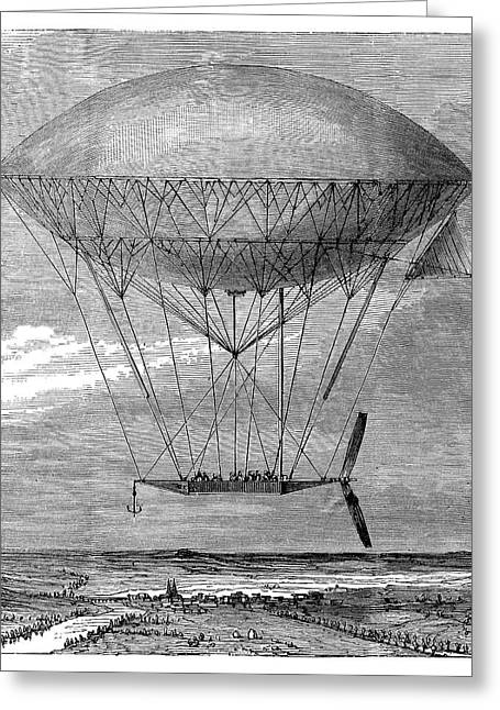 'dupuy De Lome' Airship Greeting Card by Science Photo Library
