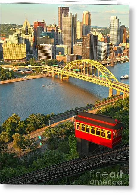 Duquesne Incline Greeting Cards - Duquesne Incline Portrait Greeting Card by Adam Jewell