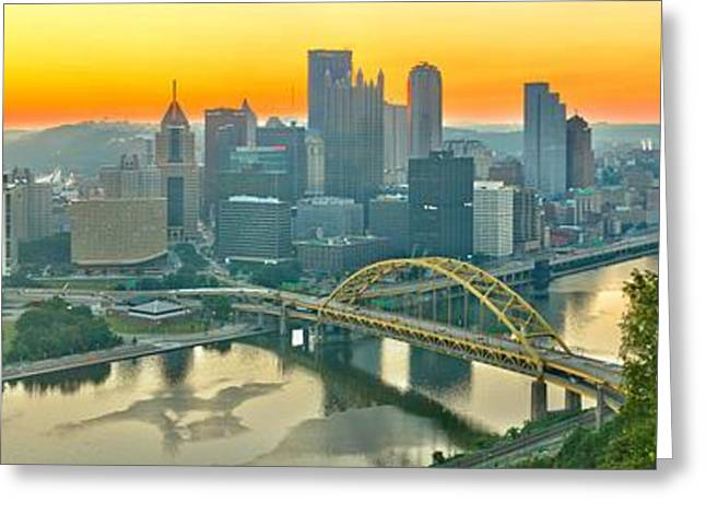 Duquesne Incline Sunrise Greeting Card by Adam Jewell