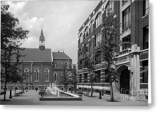 Duquesne University Chapel and Canevin Hall Greeting Card by University Icons