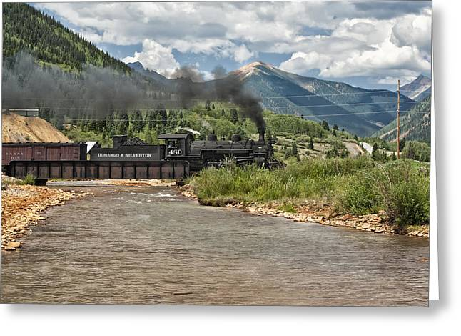 Best Sellers Greeting Cards - Durango and Silverton Train Greeting Card by Melany Sarafis