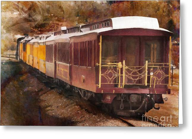 Old Caboose Greeting Cards - Durango Silverton Railway Line Greeting Card by Janice Rae Pariza