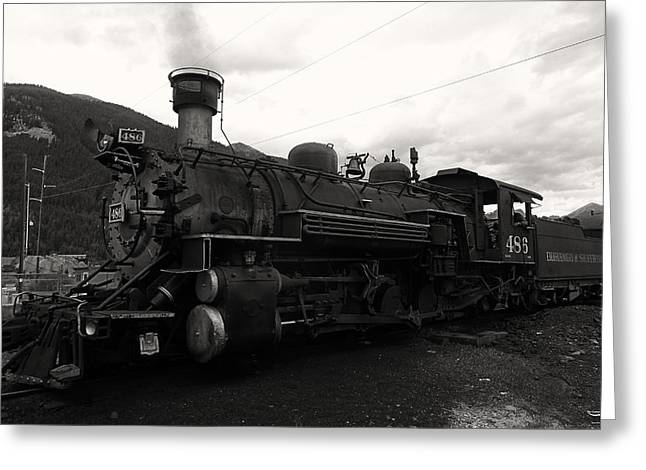 Colorado Railroad Museum Greeting Cards - Durango Silverton RR 1 Greeting Card by Tommy Anderson